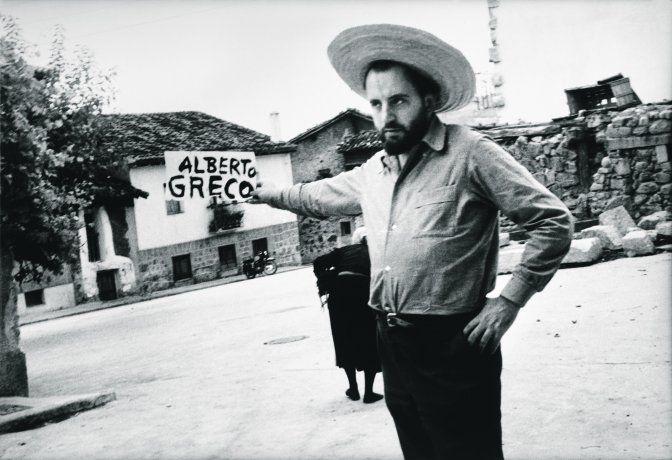 Alberto Greco. Fotografía del artista en Piedralaves