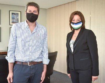El ministro de Turismo, Matías Lammens, se reunió días atrás con la gobernadora Arabela Carreras.