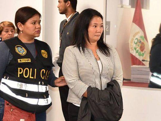 La Justicia de Perú encarceló otra vez a Keiko Fujimori