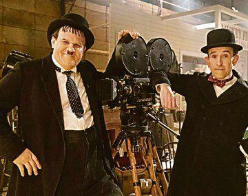 Stan & Ollie. John C. Reilly como Oliver Hardy y Steve Cogan como Stan Laurel en el film de Jon S. Baird sobre el Gordo y el Flaco.