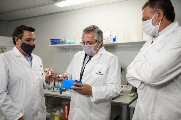 Alberto Fernández recorrió el laboratorio donde se desarrolló el suero  equino