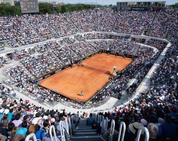 El torneo romano, uno de los cancelados por las autoridades del tenis frente al avance del coronavirus.