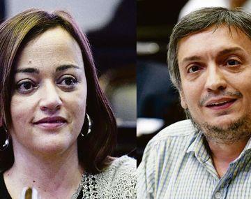 Cecilia Moreau y Máximo Kirchner.