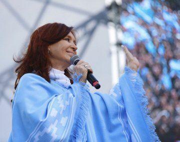 """""""¡Viva la patria, argentinos y argentinas!"""", remarcó Cristina Kirchner en el Día de la Independencia."""