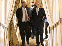 En su primer día en Europa, Alberto Fernández fue recibido por el presidente de Portugal, Marcelo Rebelo De Sousa.