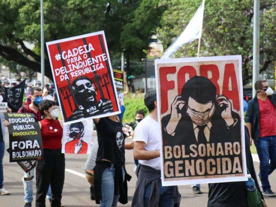 Fuera Bolsonaro, la consigna central otra vez de miles de brasileños en las calles