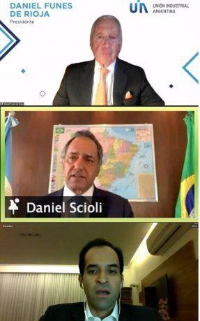 El cónclave virtual contó con la presencia del embajador argentino en Brasil, Daniel Scioli.