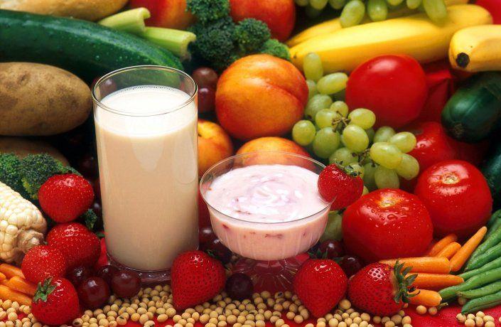 Alimentos saludables.
